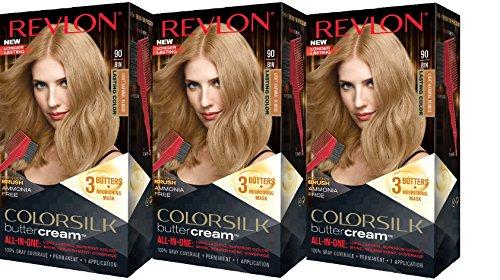 Revlon Colorsilk Buttercream Hair Dye, Light Natural Blonde, Pack of 3