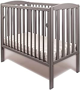 NEW WOOD LITTLE BABES TOBIE COT COMPACT MINI SPACE SAVER BABY BED  Grey