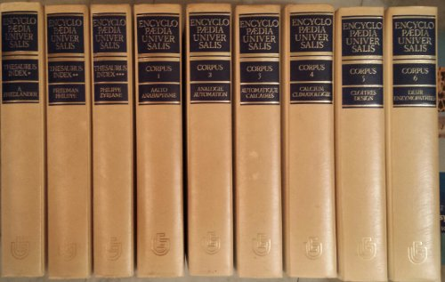 Encyclopaedia universalis 18 volumes + 1 volume de symposium + 3 volumes thesaurus Index + 2 suppléments soit 24 tomes collection complète