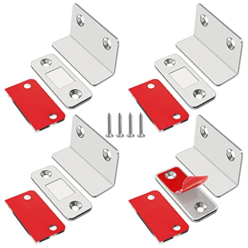 Magnetschnäpper Schrankmagneten Stark Jiayi 4 Stück L ShapeTürmagnet Selbstklebend Schubladen Magnet Tur Möbel Magnetverschluss Schrank Magnete für Schranktüren Möbelmagnete Moebel Magnet Türschließer