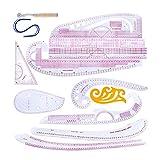 Wowlela Abbigliamento Moda Righello Righello per Cucito Fai-da-Te Set su Misura per Cucire Multifunzione in Plastica per Misurare Gli Strumenti per Righello