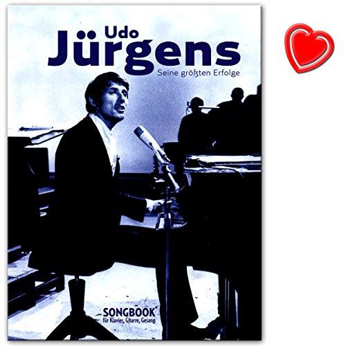 Udo Jürgens – Seine größten Erfolge für Klavier, Gesang und Gitarre - Songbook mit mit bunter herzförmiger Notenklammer - Verlag: Bosworth - BOE7881 - 9783865439772