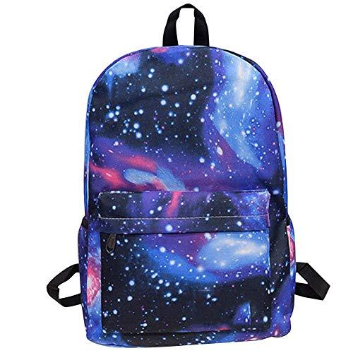iYoung 2018 New Casual Handbag Star Backpack, Borsa per attività all'Aria Aperta da Studente per Junior, Liceo, università Ragazze, Ragazzi, Donne e Uomo per Travle Sport e attività all'Aria Aperta