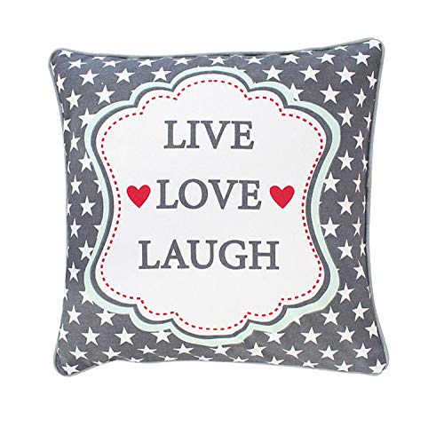 Krasilnikoff Cushion Cover, Live, Love, Laugh 50x50 cm [P] [W]