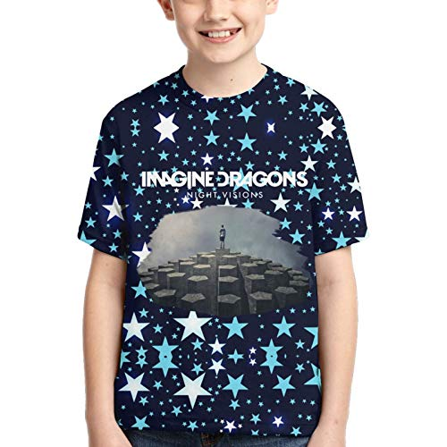 Ima-Gine-The Dra-Gons-Night-Visio-NS Camisetas de algodón para niños Camiseta Estampada en 3D para niños pequeños Camiseta Casual de Manga Corta para niños
