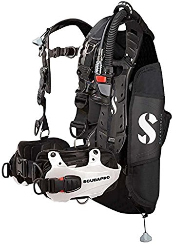 SCUBAPRO Hydros Pro Women's Diving BCD with Air2 5th Generation Inflator Regulator (Medium, White)