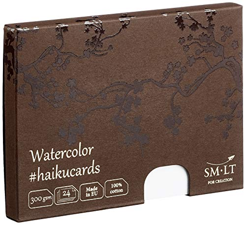 smlt C de 24(300) Haiku Cards 147x 106mm Acuarela Tarjetas en la caja, 300gsm Acuarela Papel, tarjetas de 24
