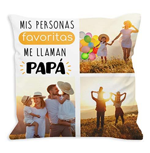 NANNUK - Cojín personalizado Día del padre Mis personas favoritas me llaman Papá con fotos.