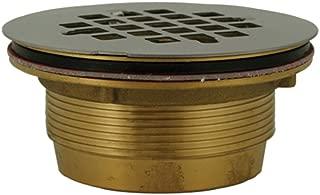 PlumBest D40140 2-Inch Brass No Caulk Shower Drain with Stainless Steel Strainer