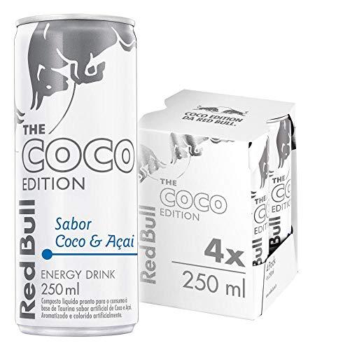 Energético Red Bull Energy Drink, Coco e Açaí, 250 ml - 4un