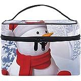 Porta pupazzo di neve per organizzatore di trucco da viaggio per borsa da pupazzo di neve di Natale per donna, borsa da toilette per ragazze, 23X17X16Cm