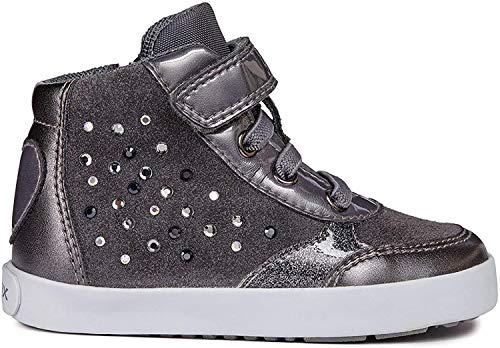 Geox Jungen Mädchen B Kilwi Girl B Sneaker, Grau (Dk Grey C9002), 24 EU