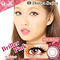 カラコン 度なし 1箱2枚入り QuoRe Donna Series/ソブレ/119131 14.0mm【BrillerPink--0.00】