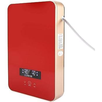 Riscaldatore di Acqua istantaneo scaldabagno Elettrico istantaneo Sicuro Senza Serbatoio 220V 6500W con Display a LED per la Doccia del Bagno di casa