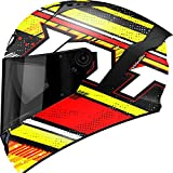 KYT Casco Moto Integral Nf-R, Energy Rosso/Giallo, S 55-56 cm