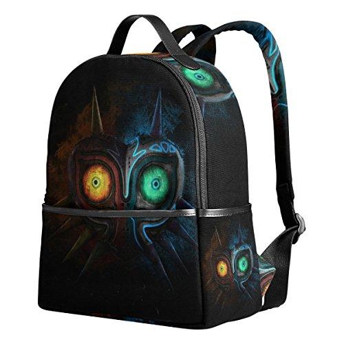 Majora Mask Unisex Rucksack Canvas Satchel Casual Daypack,School College Student Backpack