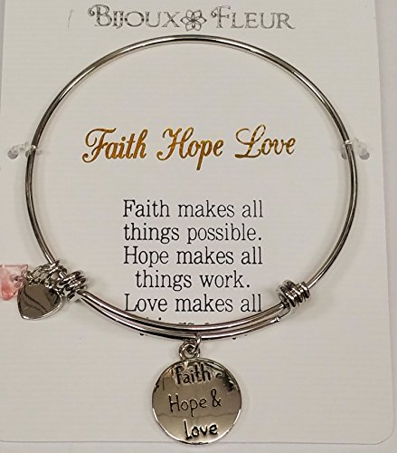 Faith Hope Love benannt Charme Armreif/Armband Tolles Sterling effectz