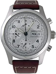 Hamilton Khaki Field Chrono Auto Steel Brown XL Mens Watch H71556557 Find Prices and For Sale and review image