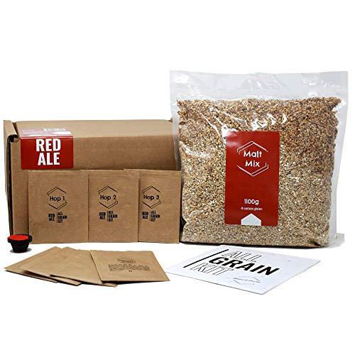 BNKR BEER Brew&Share Nachfüllpackung für Bier Red Ale | Ihr Bier in 2 Wochen | Herstellung mit Malz und Hopfen