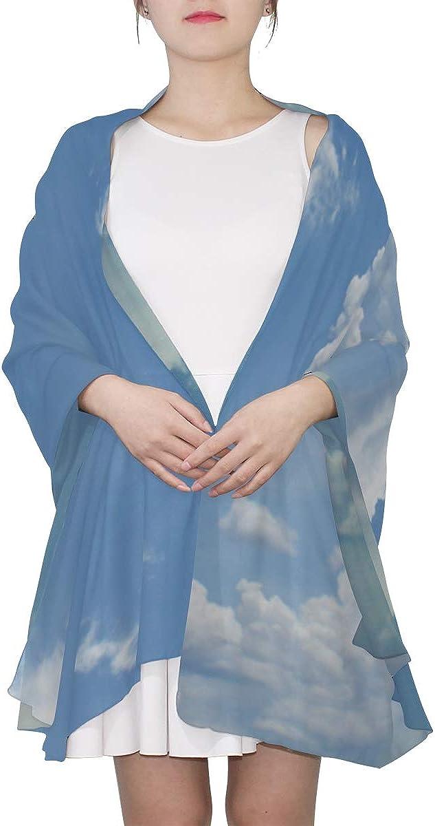 Long Scarf Wonderful Blue Sky Cloud Fashion Scarf Lightweight Scarf Men Lightweight Print Scarves Travel Scarf Scarfs For Men Lightweight