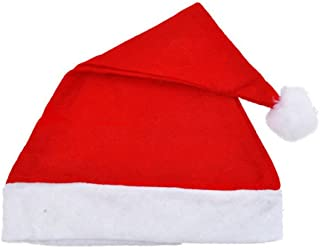 Adult Unisex Adult Xmas Red Cap Santa Novelty Hat for Christmas Party