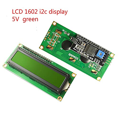 KEKEYANG Pantalla LCD LCD1602 MÓDULO Pantalla Azul 1602 I2C Módulo de visualización LCD HD44780 16x2 CIUS carácter 1602 5V para Pantalla LCD FOR Arduino Placa Controladora