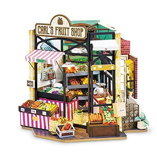 Robotime Casa de muñecas DIY casa de madera – vivienda moderna accesorios de muñecas casa decoración – Navidad juguete niña a partir de 14 años (AA)