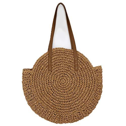 TG Strandtasche Damen Große Reise Täglich Verwenden Hellbraune Sommer Canvas Einkaufstasche