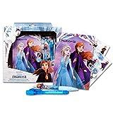 Disney Frozen 2 Diario per Bambina, Diario Magico, Set di Arti, Include Penna, Diario Segreto, Lucchetto e Chiavi, Penna UV Magica, Adesivi, Regalo per Bambina!