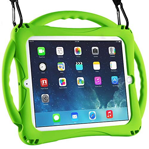 TopEsct Funda para iPad Mini Niños Shock Proof Material Silicona Lightweight Kids Protector Cover Case con Manija para Apple iPad Mini 5/Mini4/Mini3 / Mini2 / Mini1 (iPad Mini, Verde)