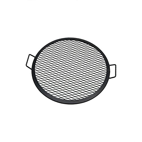 Sunnydaze X-Marks Fire Pit Cooking Grate - Outdoor Round Campfire BBQ Rack - Campfire Cooking Grill - Portable Outside Camping Cookware - Heavy-Duty Steel Construction - 22-Inch