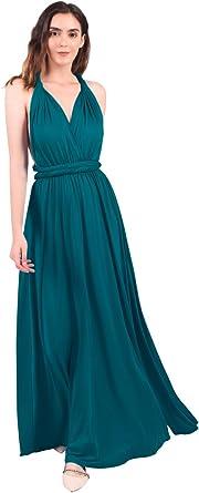 Women Transformer Hi Low Evening Long Prom Dress Halter Convertible Multi Way Spaghetti Strap Wedding Cocktail Maxi Gown