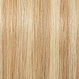 18'(45cm) SEGO Coleta Postiza Lisa Pelo Natural con Pinza [#18/613 Rubio Ceniza/Blanqueador Rubio] 100% Remy Extensiones de Cabello Humano Clip Ponytail Hair (115g)