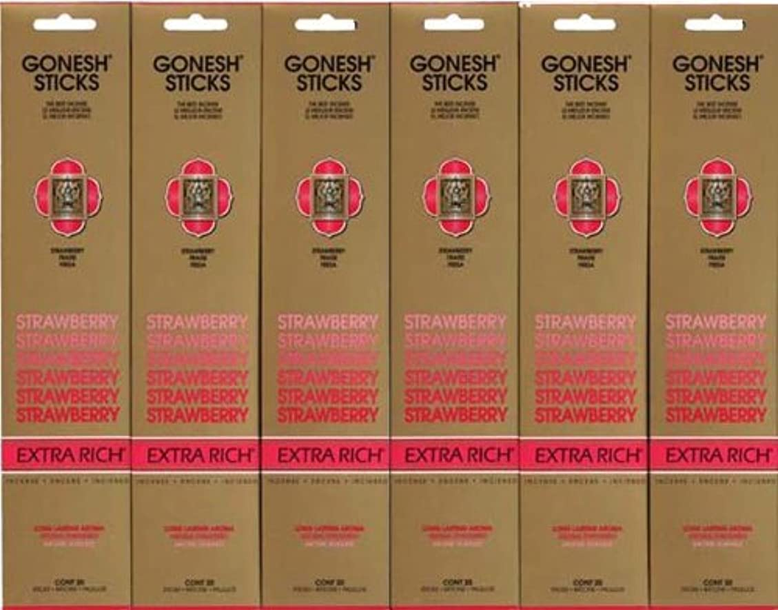 絶滅させる講堂大佐GONESH STRAWBERRY ストロベリー スティック 20本入り X 6パック (120本)