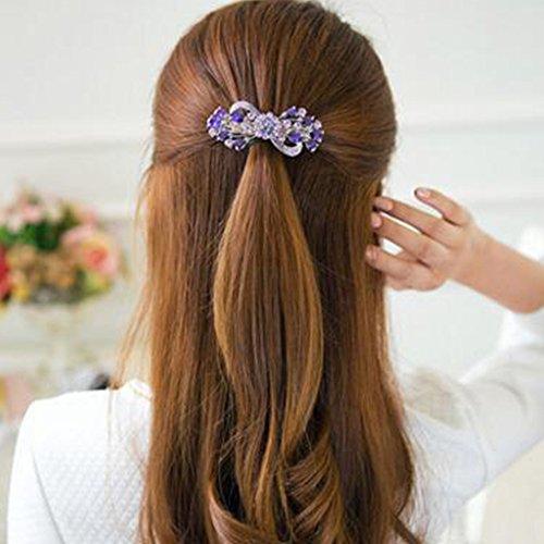 Accessoire cheveux pour dames Bowknot Hair Clips Epingle à cheveux Fermeture élégante des cheveux NO.09