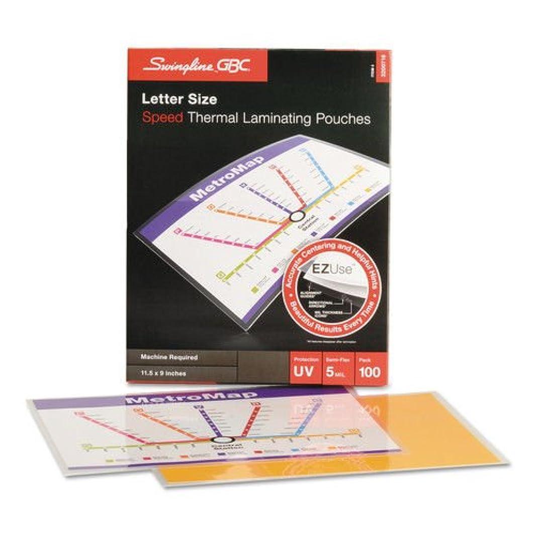 怖がらせる単に出くわすFusion EZUse Premium Laminating Pouches, 5 mil, 11 1/2 x 9, 100/Box by Swingline