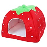 sourcing map Soft Warm Strawberry Pet Dog Cat Bed House Kennel Puppy Cushion Basket Pad XL