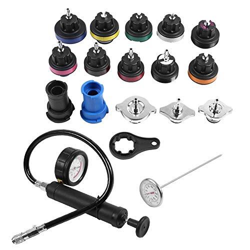 Qii lu Tester Kit, Wassertank Lecksucher, 18 stücke Universal Kühler Druck Tester Auto Vakuum Typ Kühlsystem Kit