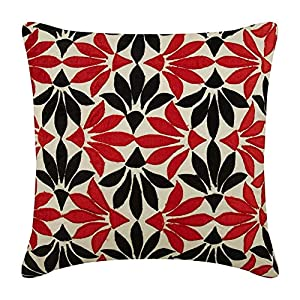 The HomeCentric Throw Pillow Covers for Couch, Decorative Cushion Covers, Silk Pillowcase, Square Velvet Applique Floral Pillow Cover, Couch Cushion Cover – Amaryllis
