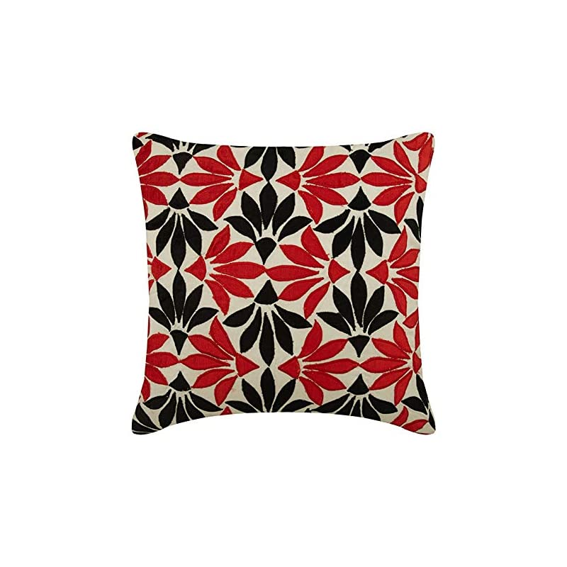 silk flower arrangements the homecentric throw pillow covers for couch, decorative cushion covers, silk pillowcase, square velvet applique floral pillow cover, couch cushion cover - amaryllis
