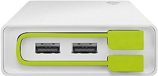 Goobay 72204 Powerbank 20.0 (20.000 mAh), kompakt und kraftvoll mit 20.000 mAh und integriertem Anschlusskabel