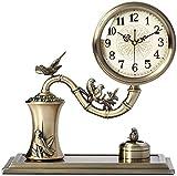 ZhenHe Reloj de mesa Familia relojes de mesa Relojes reloj de la chimenea de la sala de estar Dormitorio de la vendimia del cuarzo del metal del reloj Adornos Adecuado for salón dormitorio Oficina Ade