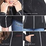 CONQUECO Damen Beheizte Jacke Beheizbare Softshell Heiz Jacke Wasserdicht Winddicht warm mit Akku und Ladegerät zum Outdoor Arbeiten (S) - 6