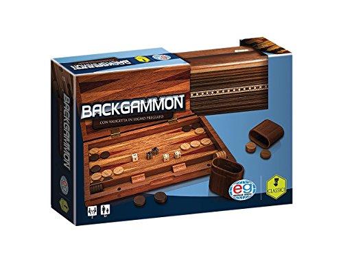 CARDINAL GAMES- CGI CLG Prem Backgammon WoodBox EIT, Multicolore, 6043891