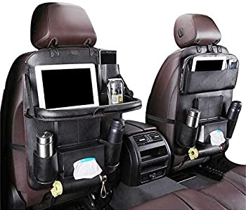 BeebeeRun Car Back seat Organizer with Foldable Table Tray