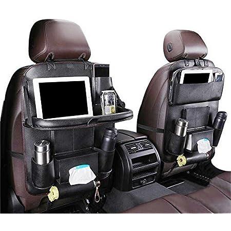Auto Organizer Auto Rückenlehnenschutz Mit Klappbarem Tisch Pu Leder Auto Rücksitz Für Kinder Babyspielzeug Und Tablette Baby