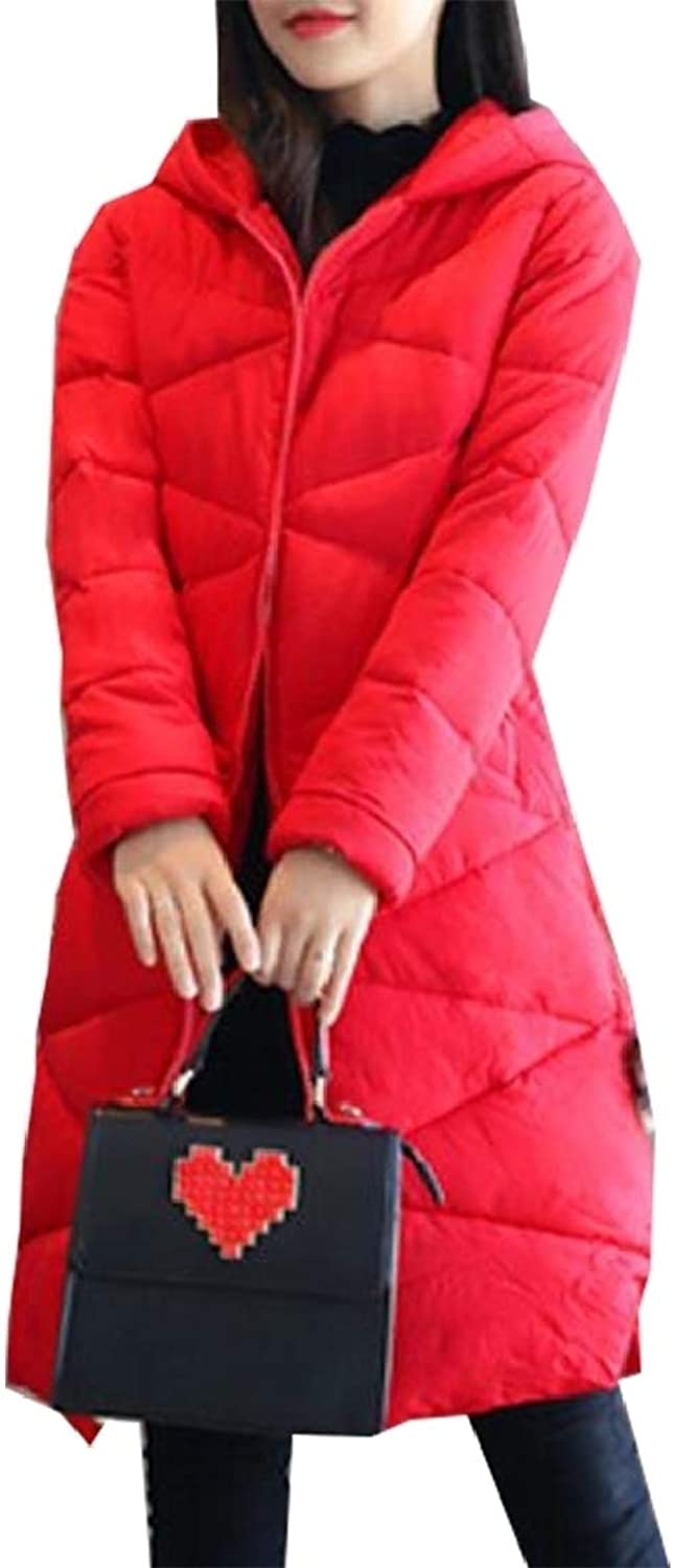GAGA Women Thicken Winter Coat Maxi Down Jackets with Hood