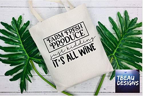 Sac fourre-tout humoristique réutilisable pour les amateurs de vin