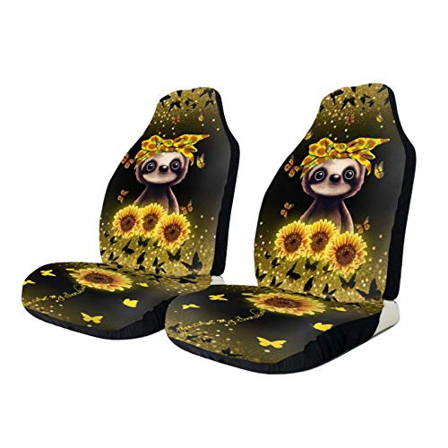Sunflower Car Front Seat Cover