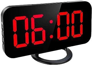 LED-display Digital Clock Automatisk klocka digital klocka telefon Reglerbar Table väckarklocka med snooze-läge Dual USB P...